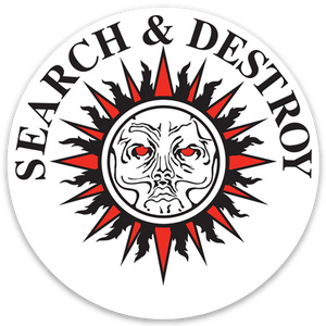 Henry Rollins - Search & Destroy Sticker (White)