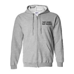 Search & Destroy Grey Zip Hoodie