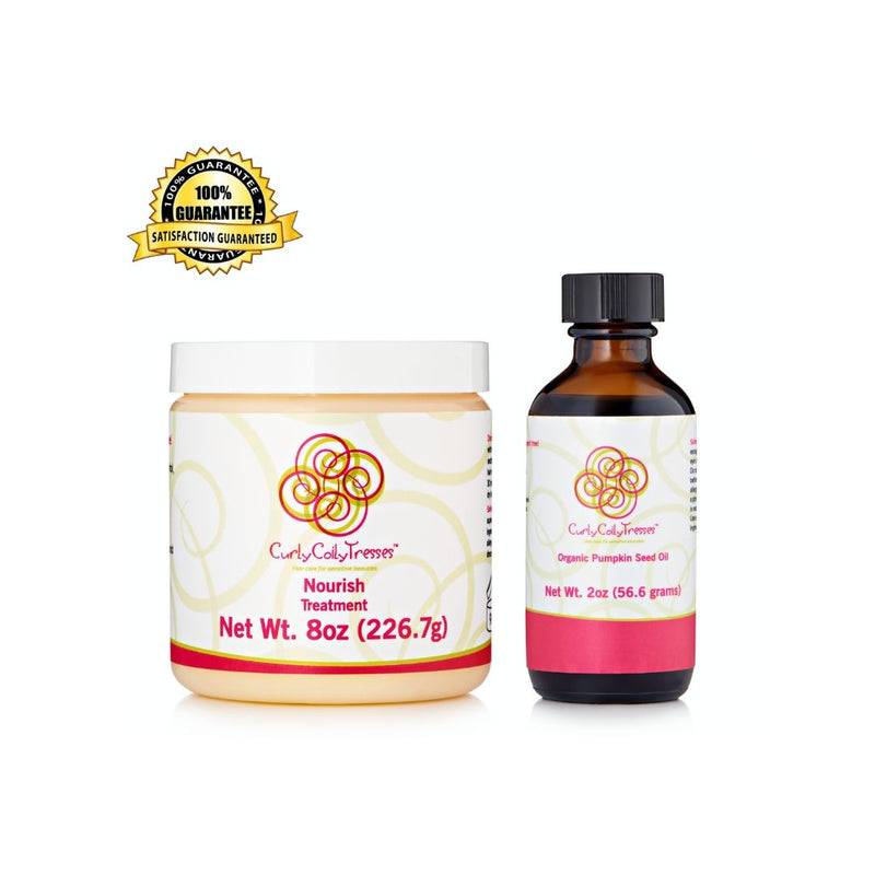CurlyCoilyTresses Pumpkin+Nourish fragrance free hair care
