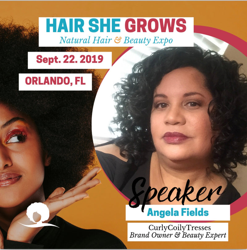 Angela Fields, Creator & CEO CurlyCoilyTresses, at Hair She Grows