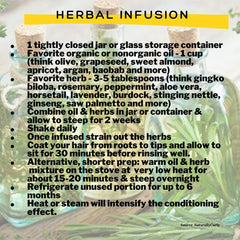 Herbal infusion hair mask