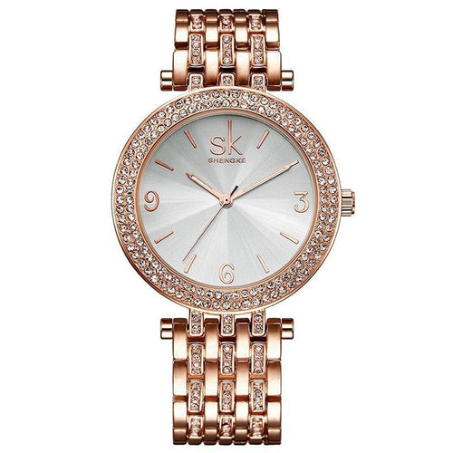 ROSE GOLD DIAMOND CERAMIC LUXURY BRACELET WATCH