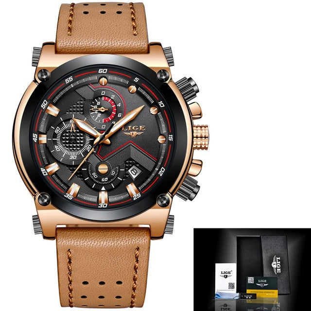 Luxury Sport Leather Watch