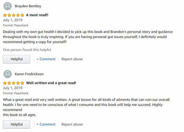 Amazon Review I Healing Autoimmune Disease I Brandon Godsey I My Simple Changes