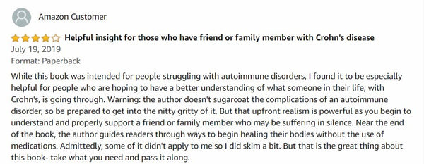 Amazon Reviews I Healing Autoimmune Disease I My Simple Changes