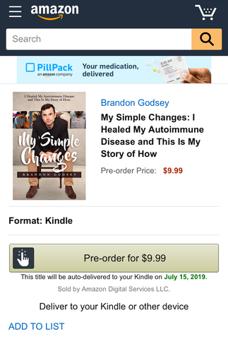 Healing Autoimmune Disease I Amazon Kindle I My Simple Changes