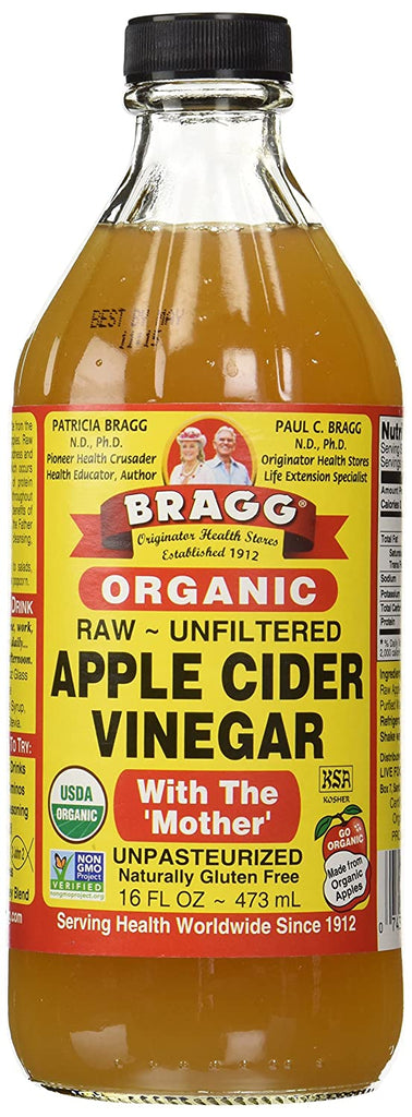 USDA Organic Raw Apple Cider Vinegar With The Mother (16 oz) - My Simple Changes