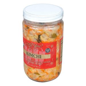 Organic Fresh Raw Un-Pasteurized Napa Cabbage Kimchi (34oz) - My Simple Changes