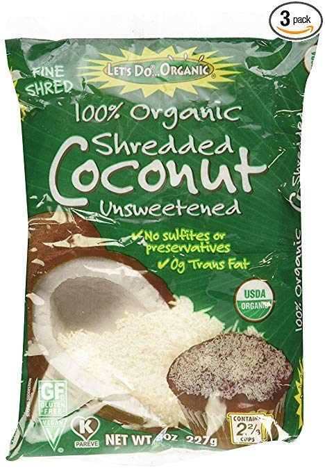 Organic Shredded Unsweetened Coconut (3 pack) - My Simple Changes