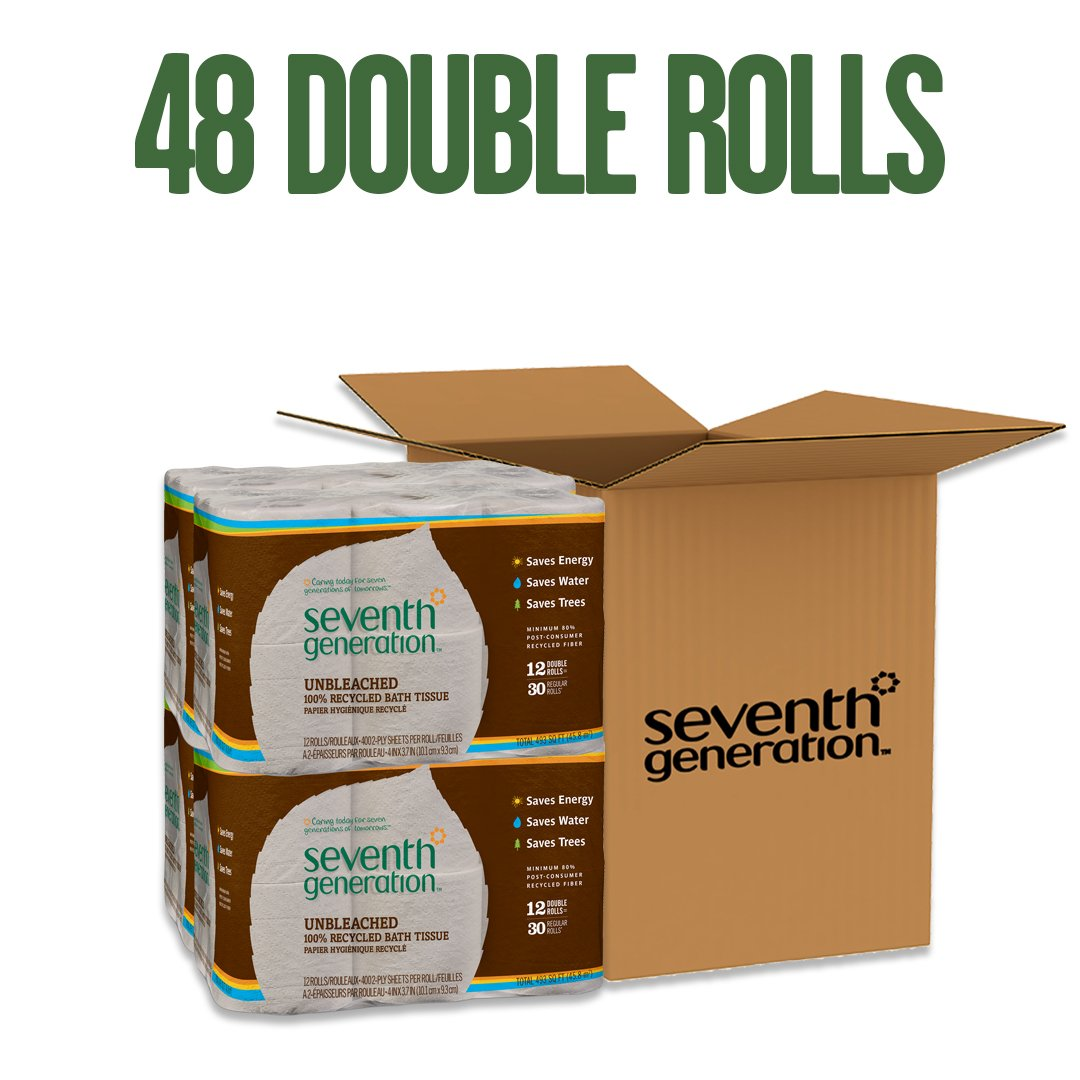 Unbleached Bathroom Tissue Roll 12-Count (Pack of 4) - My Simple Changes