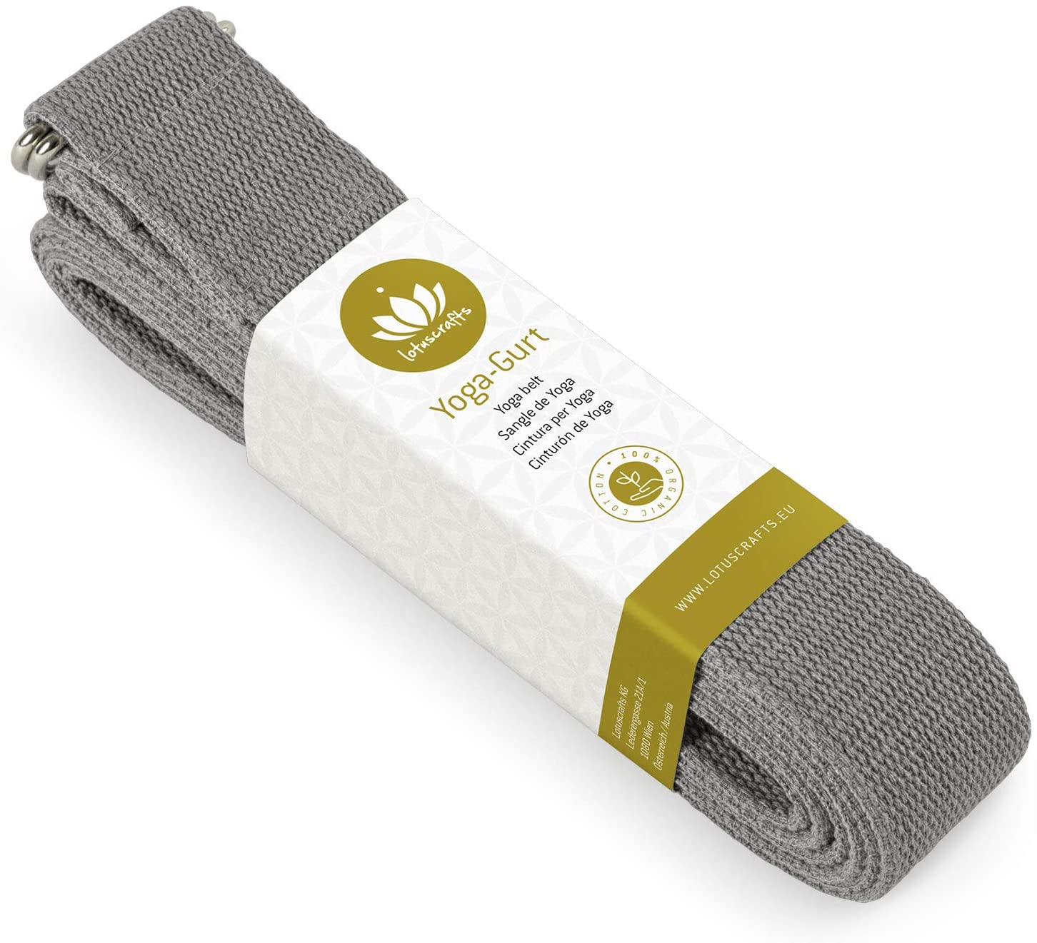 Organic GOTS-Certified Cotton Yoga Strap - My Simple Changes