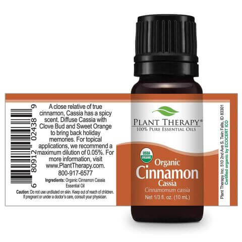 Cinnamon Cassia Organic Essential Oil (10ml) - My Simple Changes