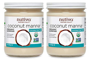 Organic Coconut Manna from Fresh, non-GMO, Sustainably Farmed Coconuts (15 oz, 2 pack) - My Simple Changes