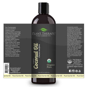 Organic Fractionated Coconut Carrier Oil (16oz) - My Simple Changes