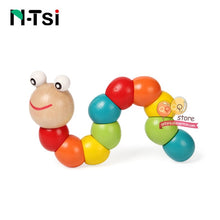 Load image into Gallery viewer, Colorful Wooden Worm Puzzles Kids Learning Educational Didactic Baby Development Toys Fingers Game for Children Montessori Gift