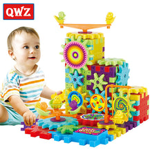 Load image into Gallery viewer, QWZ 81 Pieces Electric Gears 3D Puzzle Building Kits Plastic Bricks Educational Toys For Kids Toys For Children Christmas Gift