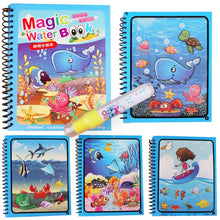 Load image into Gallery viewer, Montessori Coloring Book Doodle & Magic Pen Painting Drawing Board For Kids Toys Magic Water Drawing Book Birthday Gift