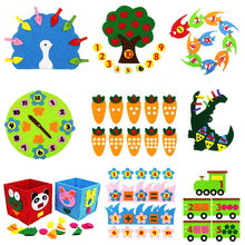 Load image into Gallery viewer, Teaching Kindergarten manual Diy Weave cloth Early Learning Education Toys Montessori Teaching Aids Math Toys