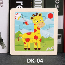 Load image into Gallery viewer, Hot Sale 9/20 Slice Small Piece Puzzle Toy Children Animals and Vehicle Wooden Puzzle Jigsaw Baby Educational Toys for Kids Gift