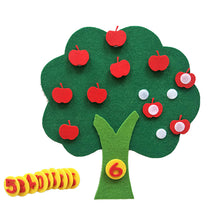 Load image into Gallery viewer, Felt Cloth DIY Children Educational Toy Durable Digital Cognitive Child Montessori Education Supplies Apple Tree Toys Kids Gifts
