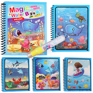 Montessori Painting Drawing Board For Kids Toys Coloring Book Doodle & Magic Pen Magic Water Drawing Book Birthday Gift
