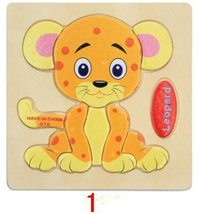 Montessori Toys Educational Wooden Toys for Children Early Learning Puzzle 3D Cartoon Animal Traffic Puzzles Intelligence Jigsaw