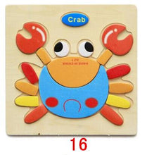 Load image into Gallery viewer, Montessori Toys Educational Wooden Toys for Children Early Learning Puzzle 3D Cartoon Animal Traffic Puzzles Intelligence Jigsaw