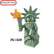 Load image into Gallery viewer, Hot Figures Series Buzz Lightyear Banana Guy Building Blocks Lady Liberty Gingerbread Man Compatible legoingly Child Toys zk30