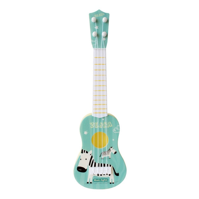 Funny Ukulele Musical Instrument Kids Guitar Montessori Toys for Children School Play Game Education Christmas Birthday Gift