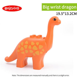 Legoing Duploed Animal Series Model Figures Dinosaurs Lion Big Building Blocks Animals Educational Toys For Kids Children Gift
