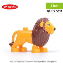Load image into Gallery viewer, Legoing Duploed Animal Series Model Figures Dinosaurs Lion Big Building Blocks Animals Educational Toys For Kids Children Gift