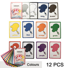 Load image into Gallery viewer, Children Baby English Learning Word Card Pocket Flash  Learning Montessori Educational Toys Word Table Game Card for kids