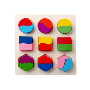 Wooden Math Toys Puzzle Baby Kids Learning Toy Preschool Jigsaw Early Childhood Education Montessori Game For Toddlers Children