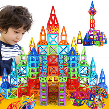 Load image into Gallery viewer, 184pcs-110pcs Mini Magnetic Designer Construction Set Model & Building Toy Plastic Magnetic Blocks Educational Toys For Kids Gift