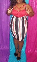 Load image into Gallery viewer, Candy Stripe Overalls Skirt