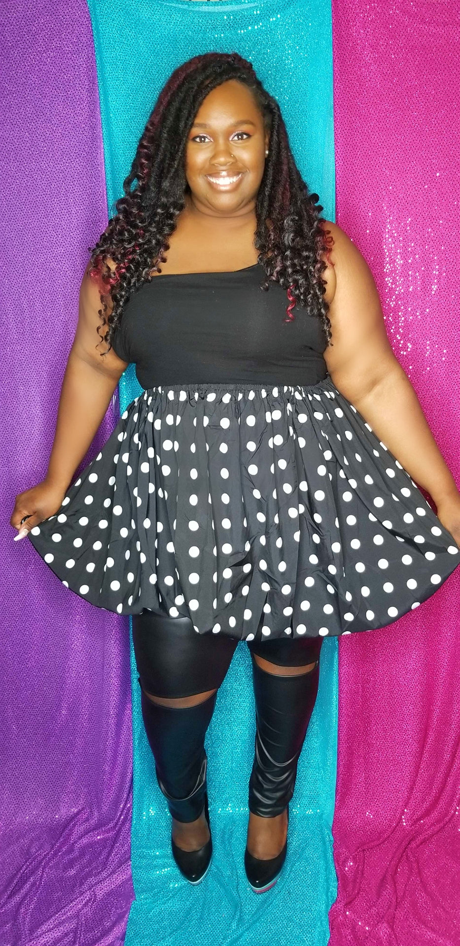 3 Way Polka Dot Top