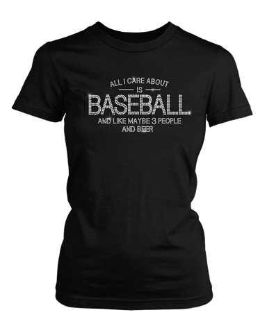 Baseball and Beer bling rhinestone shirt