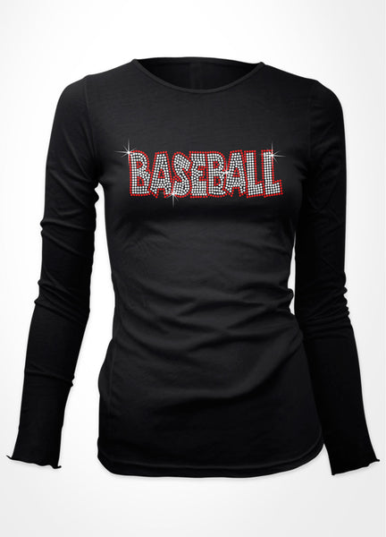 Baseball Bubble word bling shirt