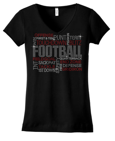 Football Terms bling shirt