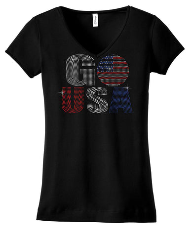 Go USA in red, white and blue bling