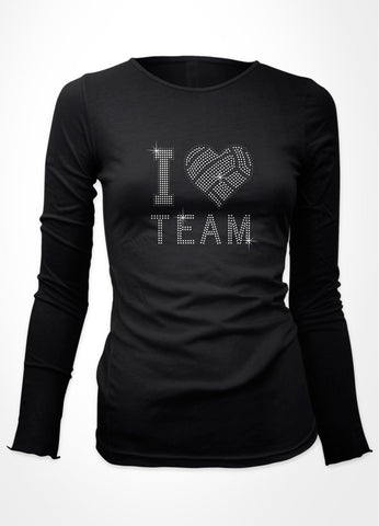 I Volleyball heart + Team