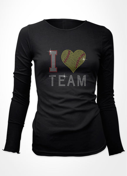 I Softball heart + Team