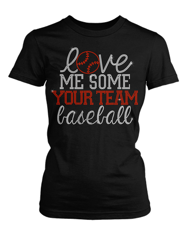 Love me some baseball bling rhinestone shirt