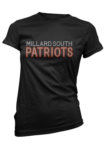 Millard South above Patriots in rhinestones