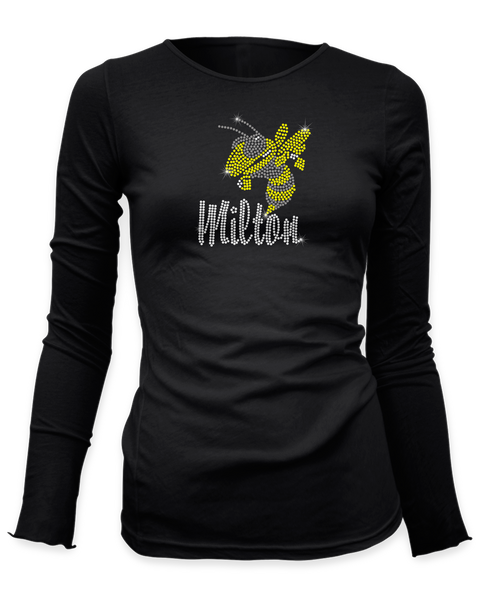Milton Yellowjacket Rhinestone shirt