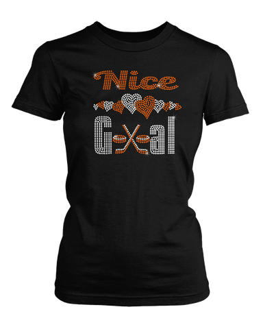 Nice Goal Hockey bling rhinestone shirt
