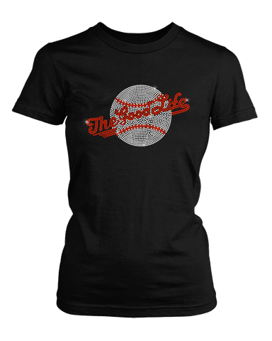 The Good Life Baseball bling rhinestone shirt
