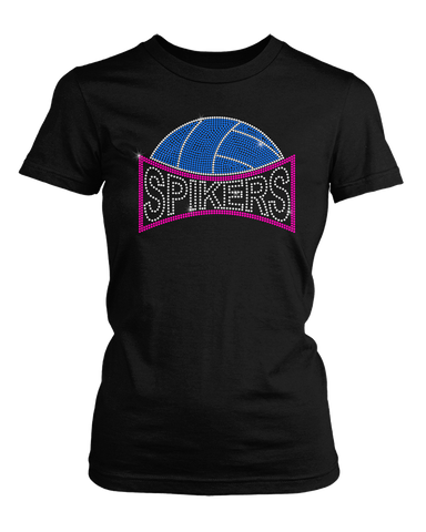Spikers Volleyball bling rhinestone shirt