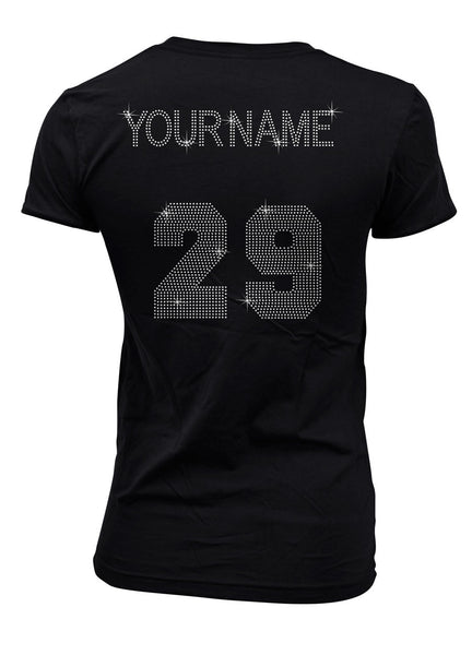 Name and Number add on to bling shirt