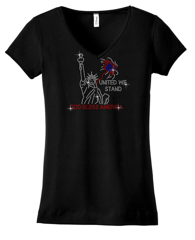 United we stand rhinestone bling shirt